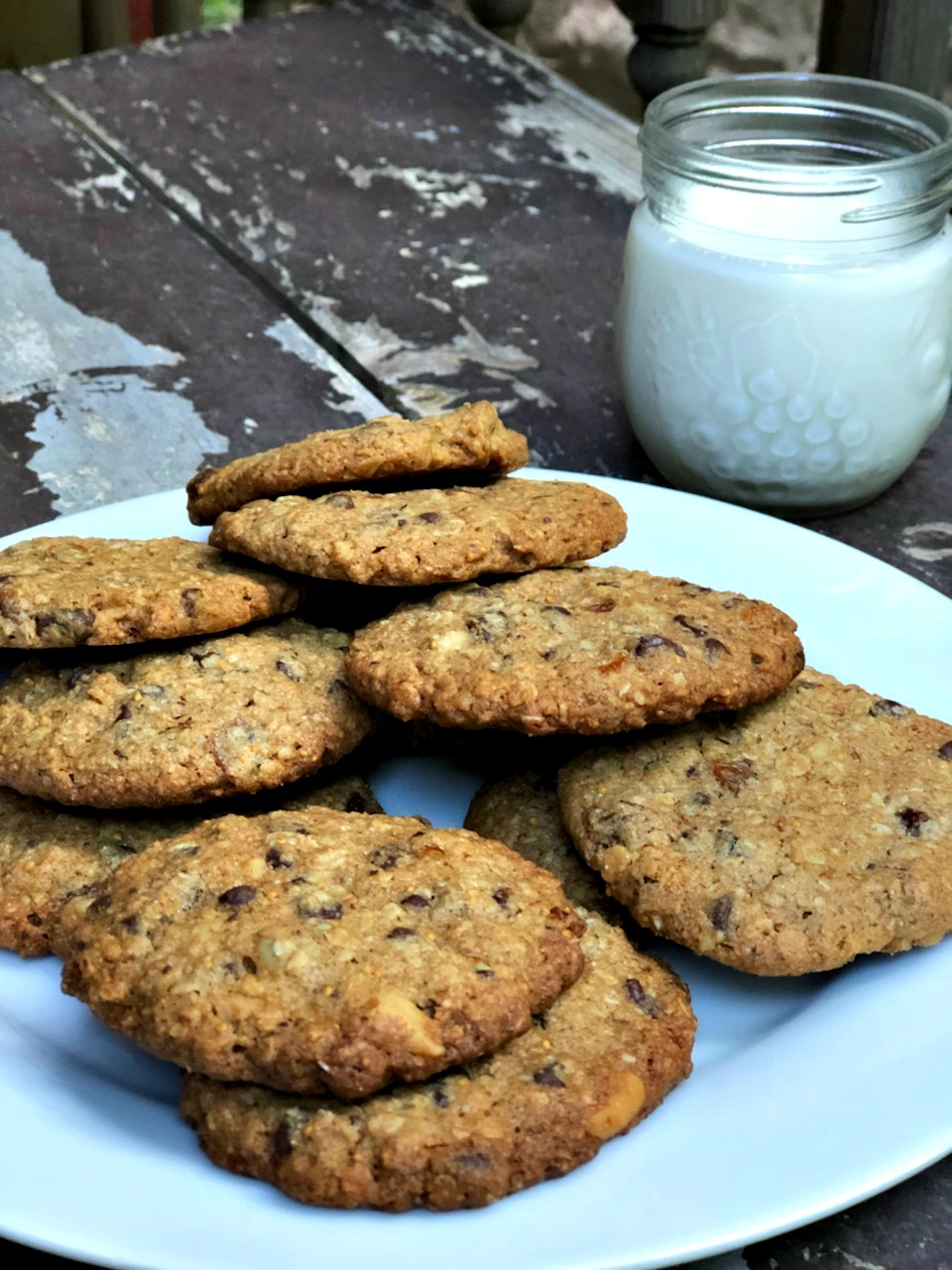 Rye and Granola Chocolate Chip Cookies