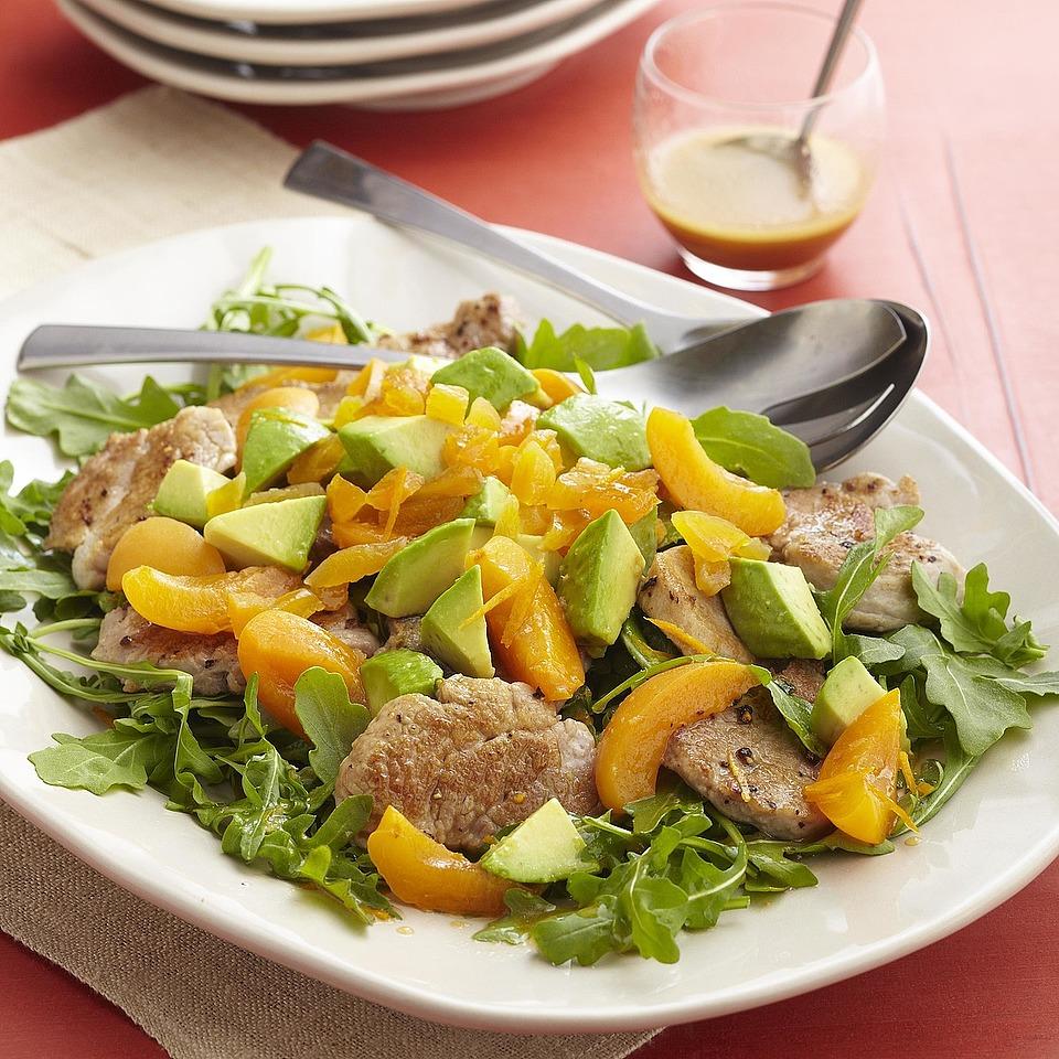 Citrus Pork and Arugula Salad Diabetic Living Magazine