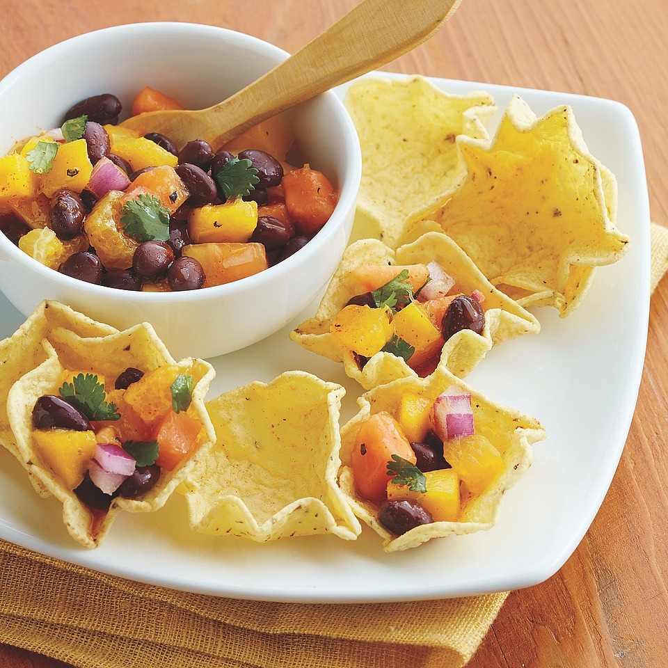 Mango and Black Bean Salsa Cups Diabetic Living Magazine