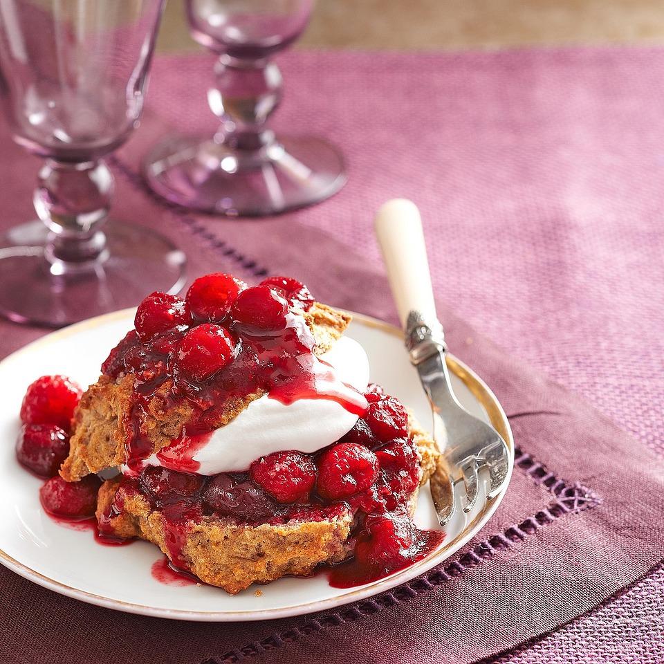 Cran-Raspberry Shortcakes Diabetic Living Magazine