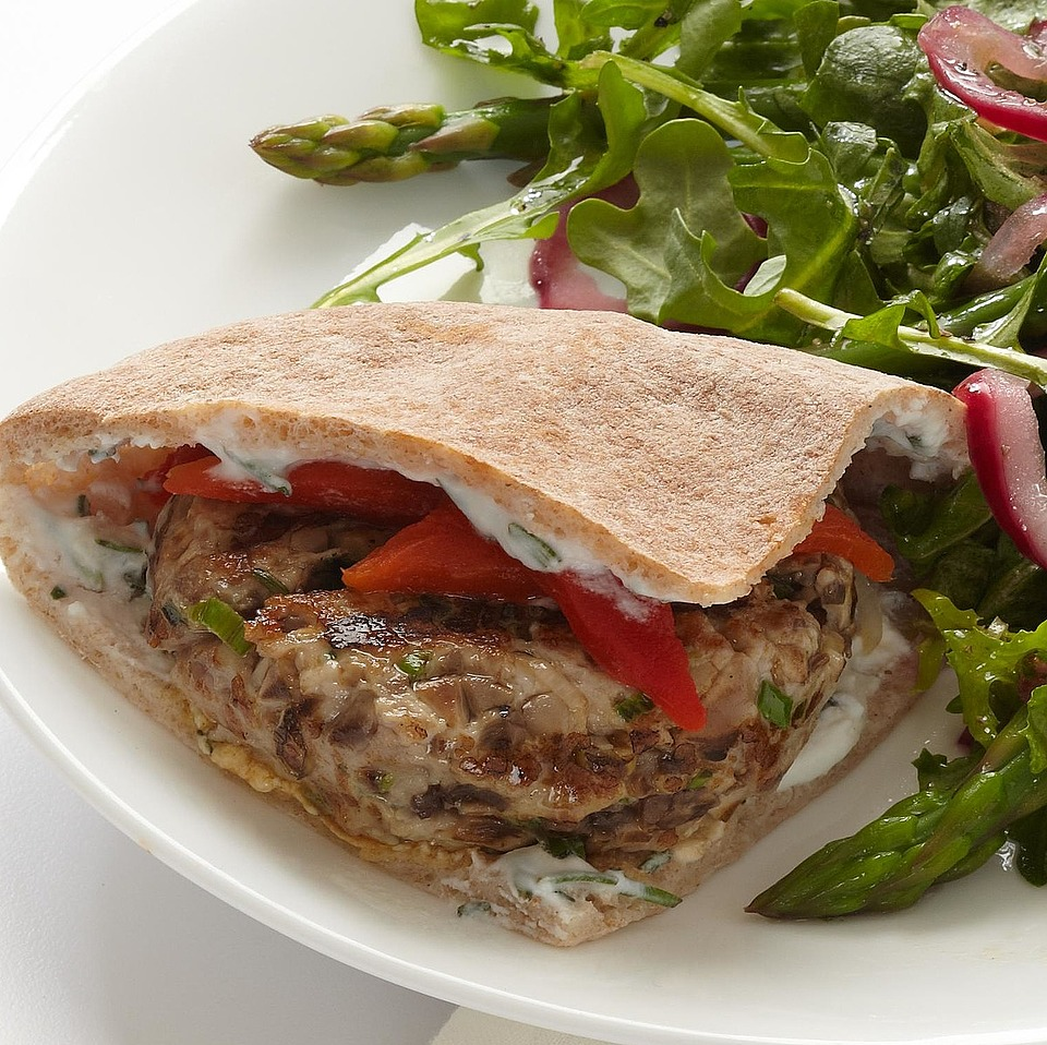 Pork Burgers with Feta-Rosemary Spread Diabetic Living Magazine
