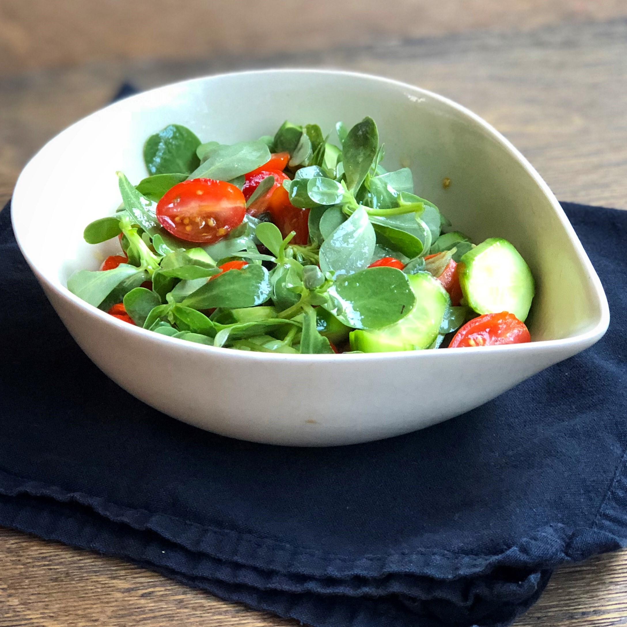Purslane, Cherry Tomato, and Cucumber Salad