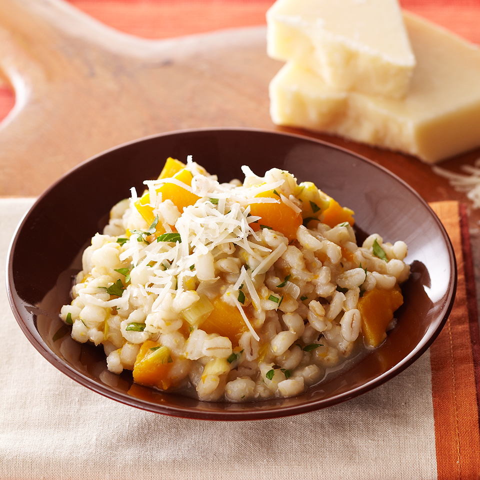 Use your slow cooker to make this easy and delicious risotto recipe.