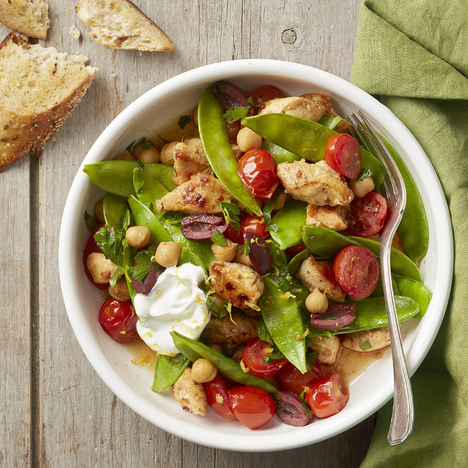 Chock-full of nutrients, snow peas shine in this 20-minute, harissa-sauced, one-pot meal that feeds the whole family. Harissa is a North African hot chile paste--use just a teaspoon if you prefer a mild flavor. Source: Diabetic Living Magazine