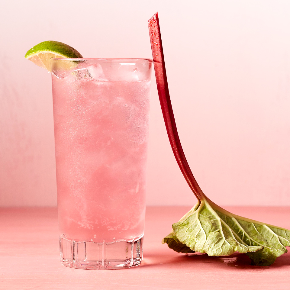 Turn happy hour into healthy hour with this cocktail that curbs carbs! The Rhubarb Syrup in this recipe has five times less sugar than traditional syrups, and by using club soda in the cocktail--instead of tonic water--there are fewer calories. Source: Diabetic Living Magazine
