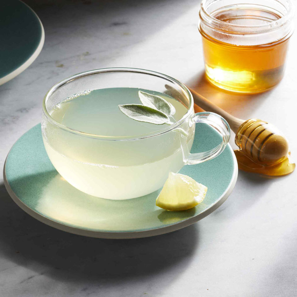 Fresh sage is an aromatic herb perfect for making flavorful caffeine-free tea. Herbalists say sage tea may even settle upset stomachs and soothe sore throats. Plus, the honey in this tea recipe can also help calm a cough.