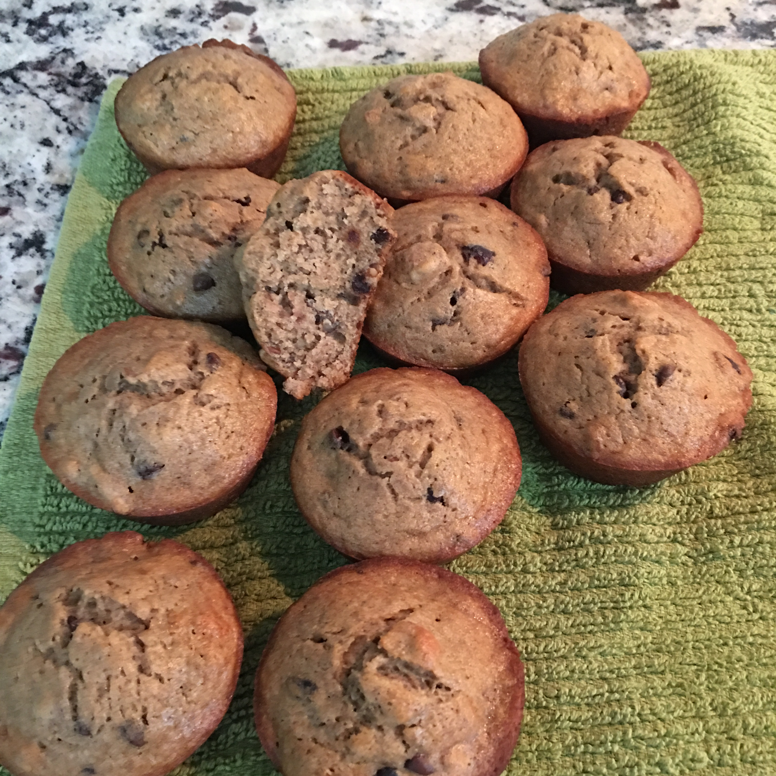 Banana Walnut Cranberry Muffins