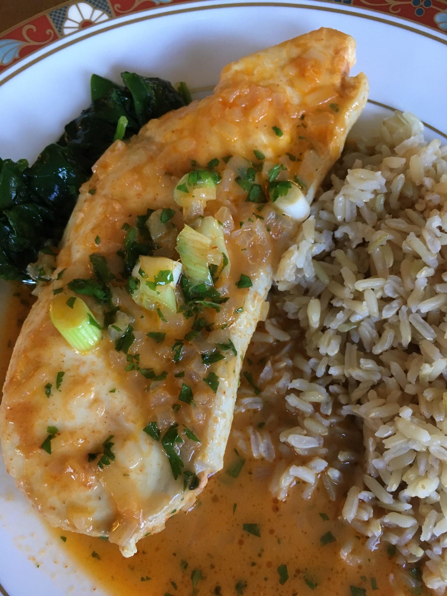 """""""You can use any type of fish filet for this delicious curry dish like halibut, tilapia, or cod,"""" says barbara. """"I have also cooked chicken in the same curry sauce before. Serve with plenty of rice."""""""