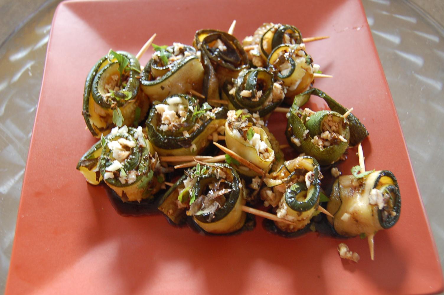 Zucchini-Feta Rolls