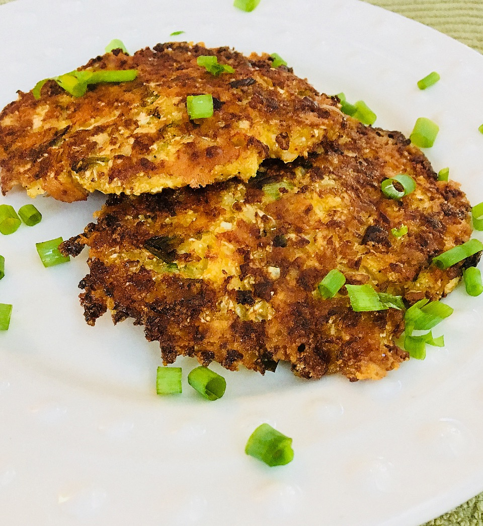 """Breakfast cauliflower is the most important cauliflower of the day. """"Cauliflower takes the place of potatoes in this low-carb version of hash browns,"""" says Elizabeth. """"The browns are held together with sharp Cheddar cheese."""""""