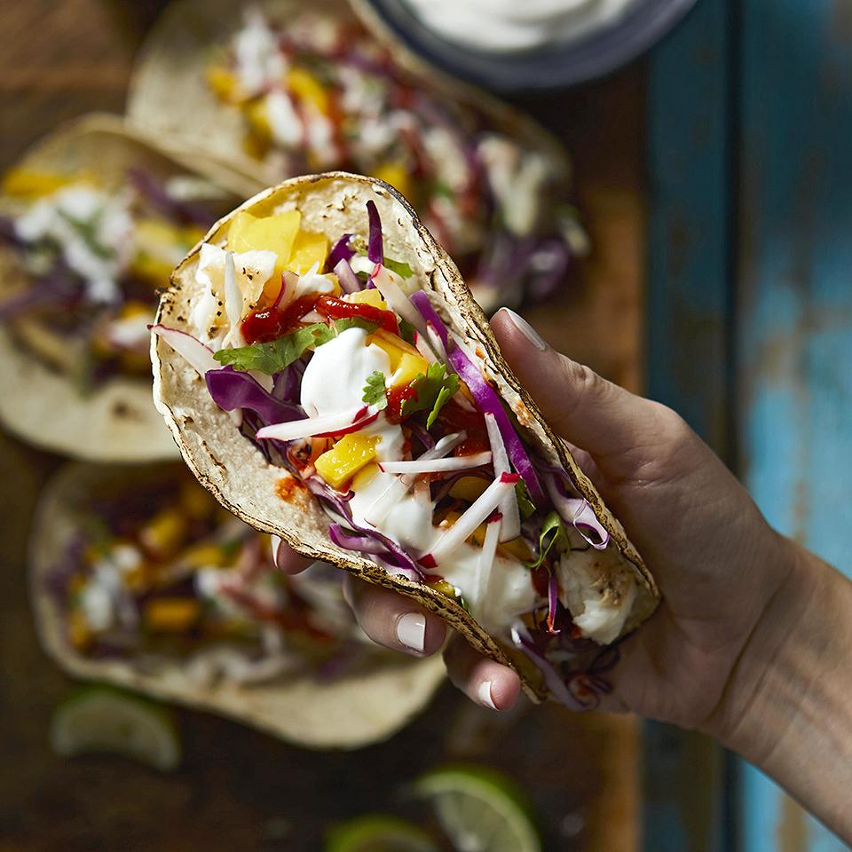 Mango-Lime Fish Tacos Diabetic Living Magazine