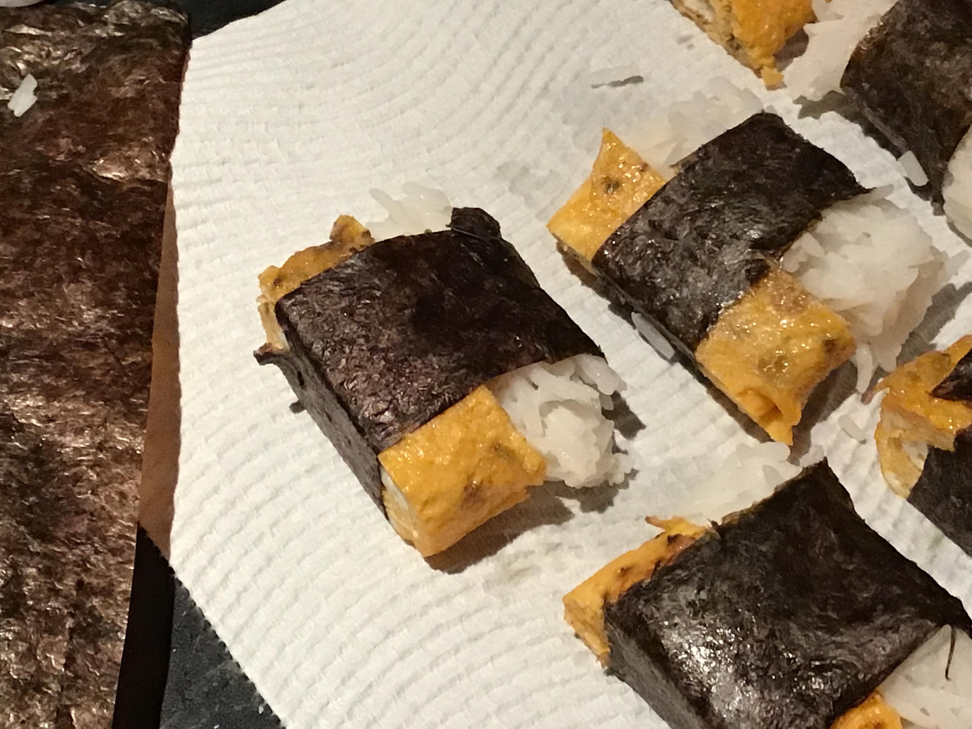 Tamagoyaki with Mushroom and Mozzarella Cheese