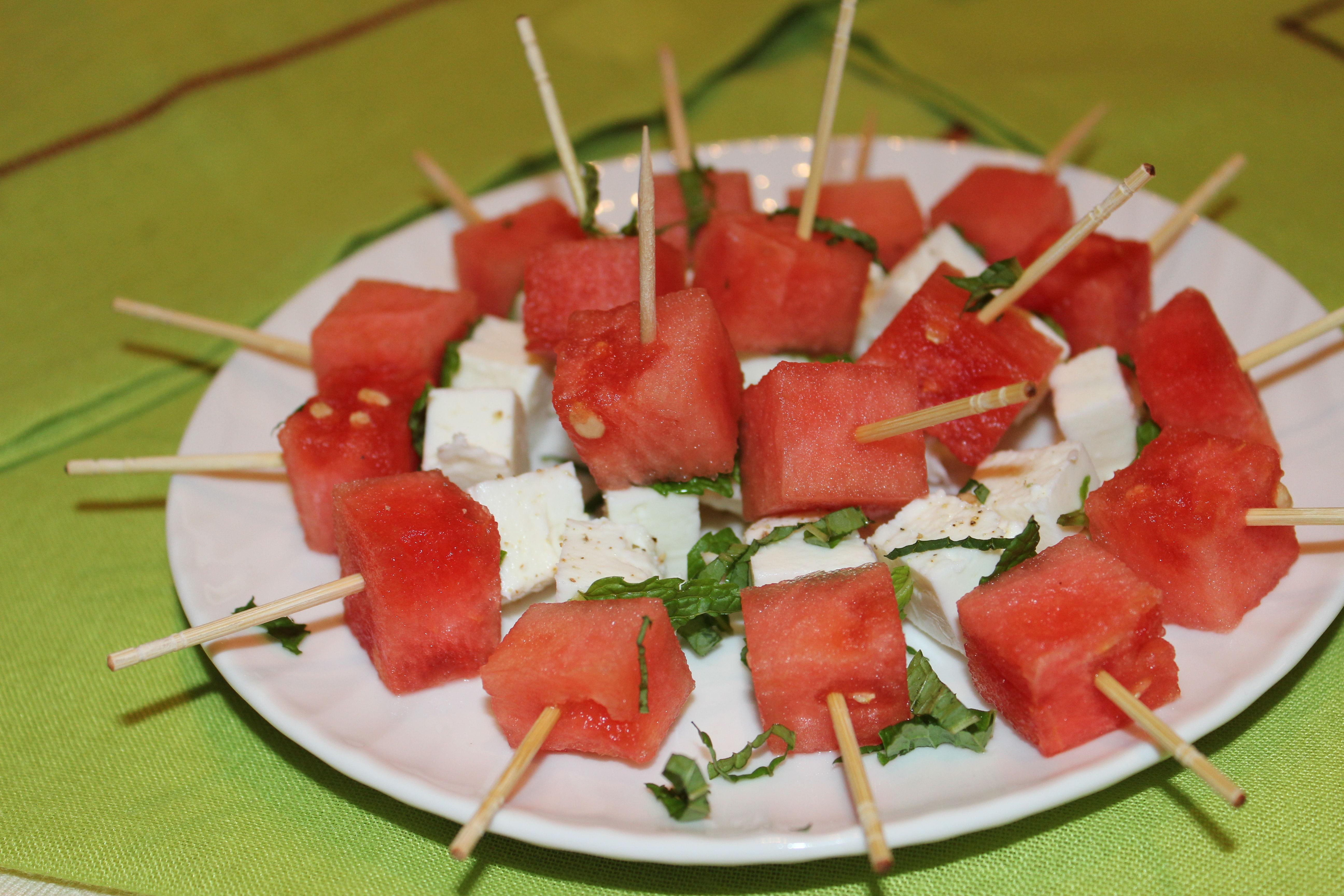 Watermelon-Feta Skewers