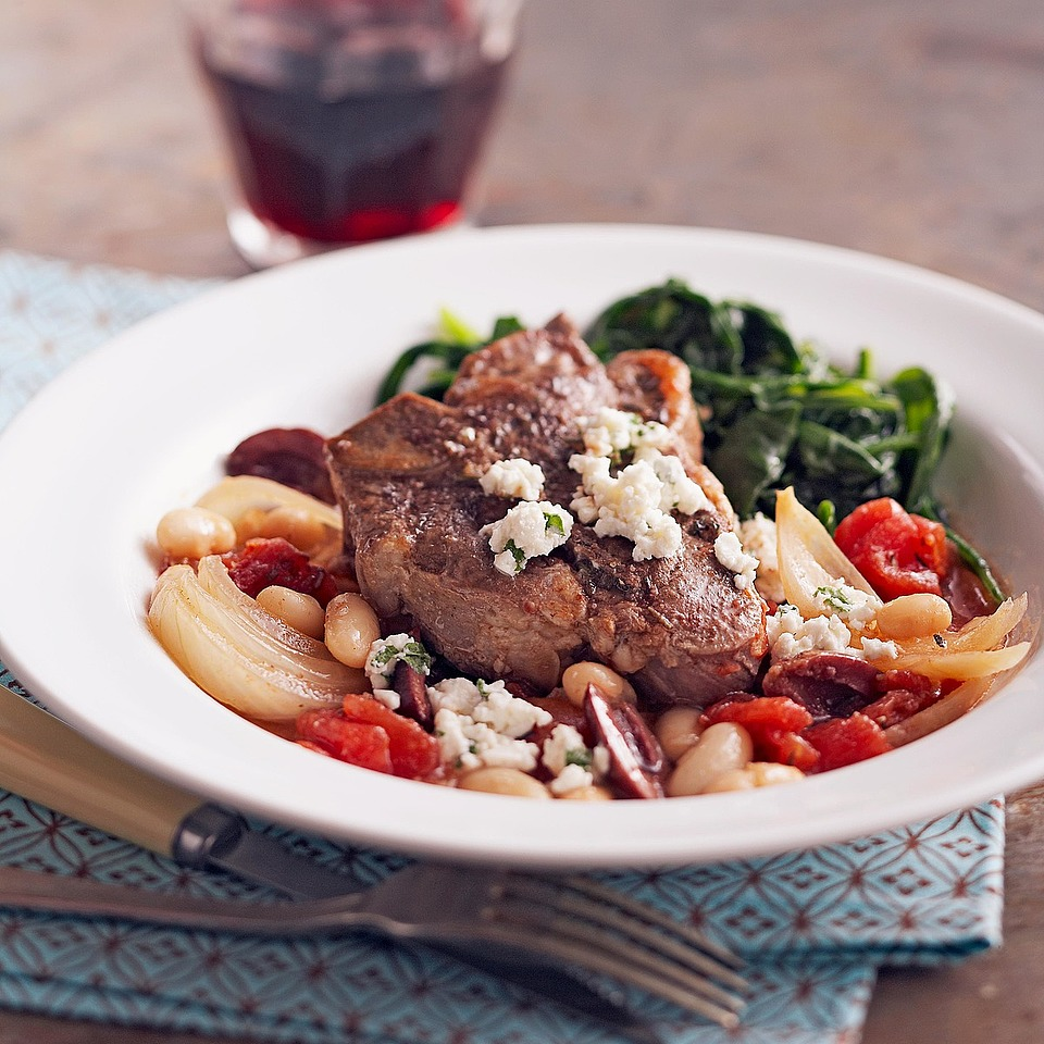 Greek Braised Lamb Chops with Herbed Goat Cheese Diabetic Living Magazine