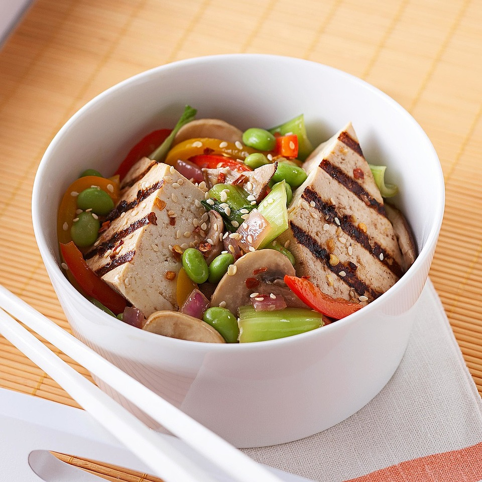 Marinated Tofu with Edamame Stir-Fry Diabetic Living Magazine