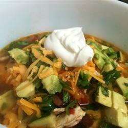 Tortilla and Bean Soup