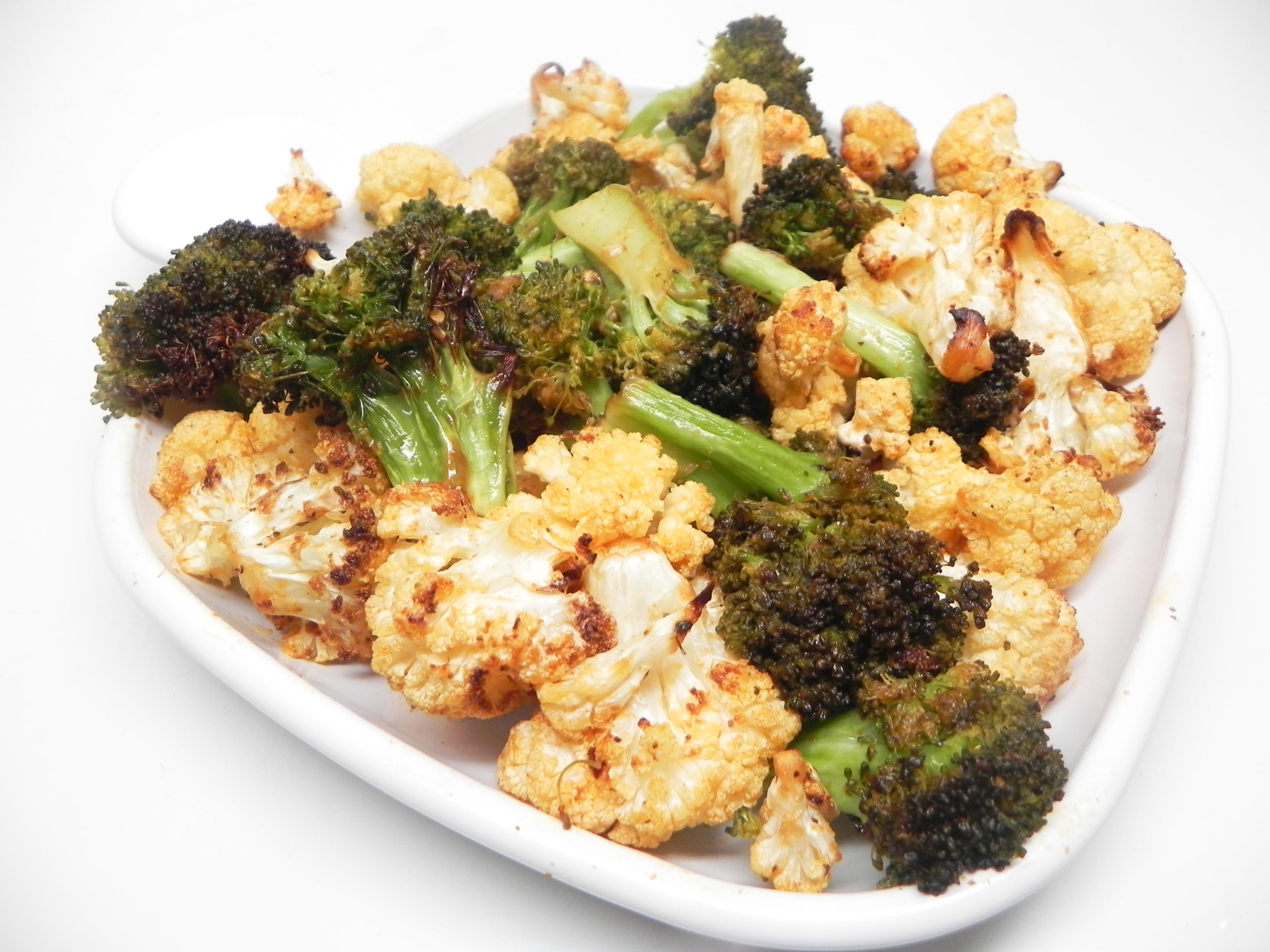 Air Fryer Roasted Broccoli and Cauliflower Soup Loving Nicole