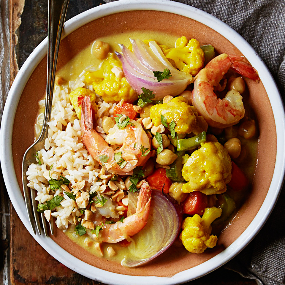 Curried Shrimp with Cauliflower and Chickpeas Diabetic Living Magazine