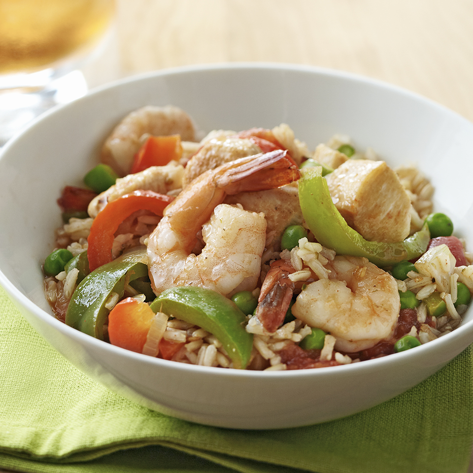Skillet Chicken and Shrimp Paella Diabetic Living Magazine