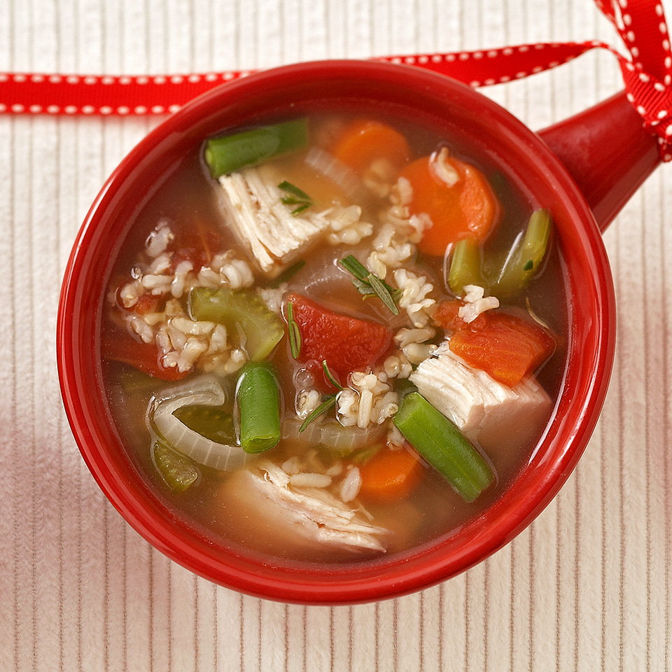 Use cooked turkey or chicken breast and plenty of veggies to make a delicious, classic soup in only 30 minutes.
