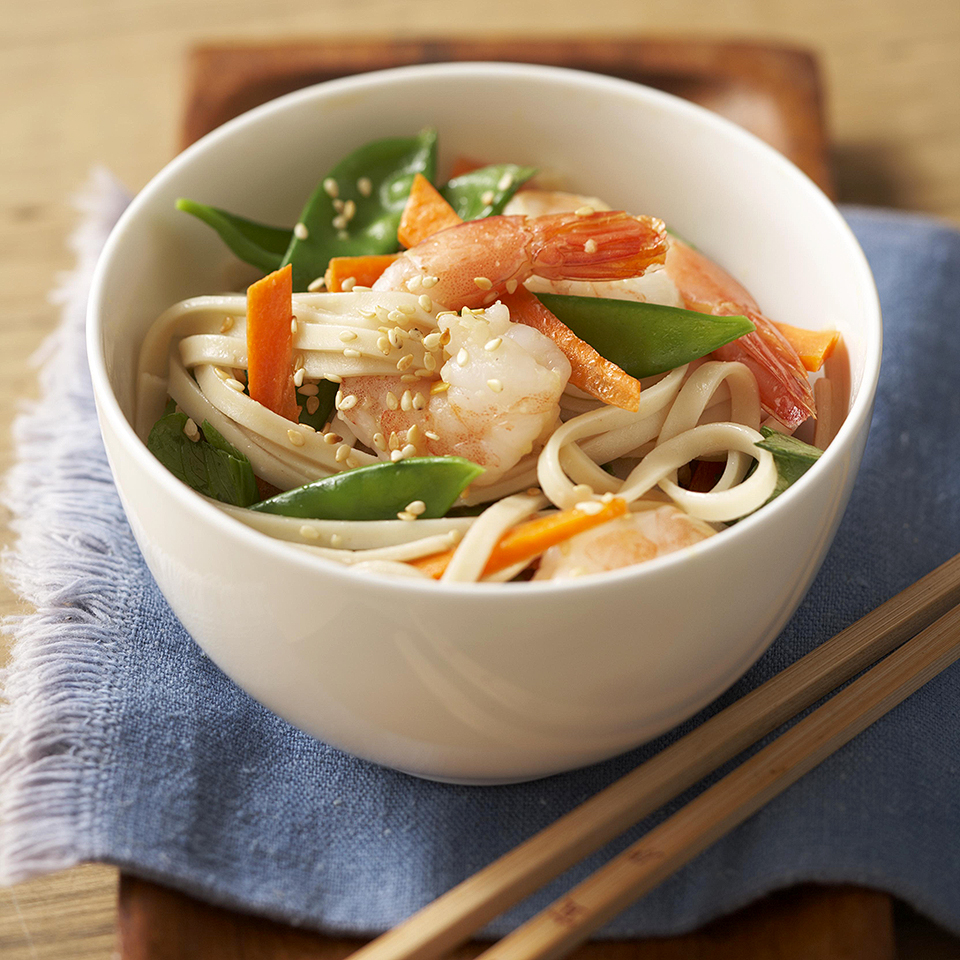 Asian Sesame Noodles with Shrimp Diabetic Living Magazine