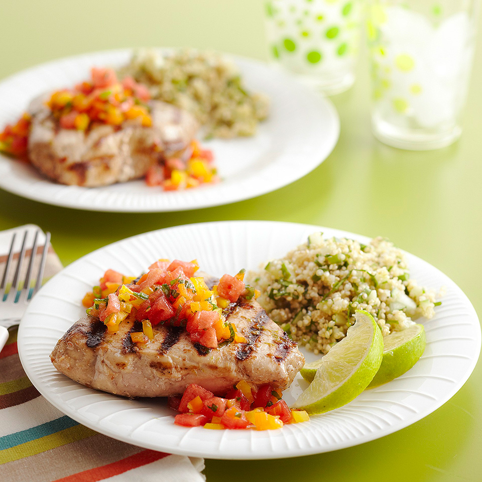 Grilled Tuna with Sweet & Hot Salsa Diabetic Living Magazine
