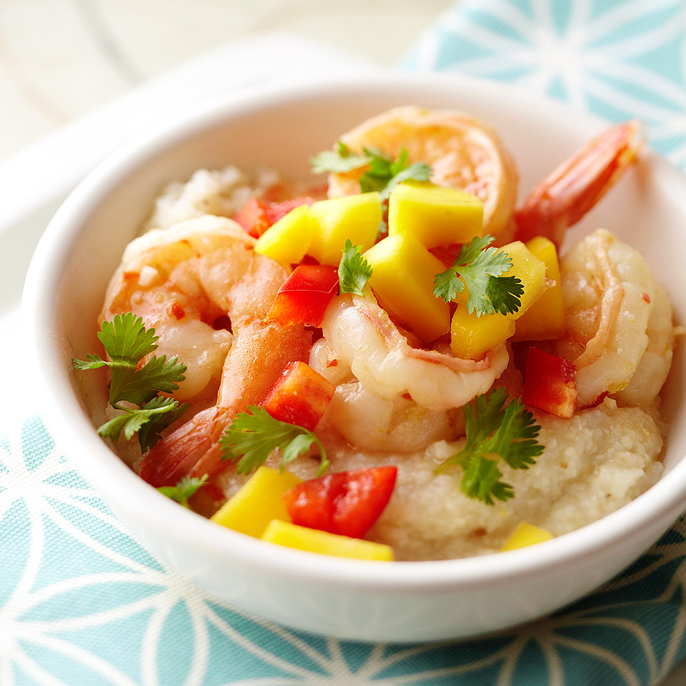 Lime-Marinated Shrimp with Grits Diabetic Living Magazine