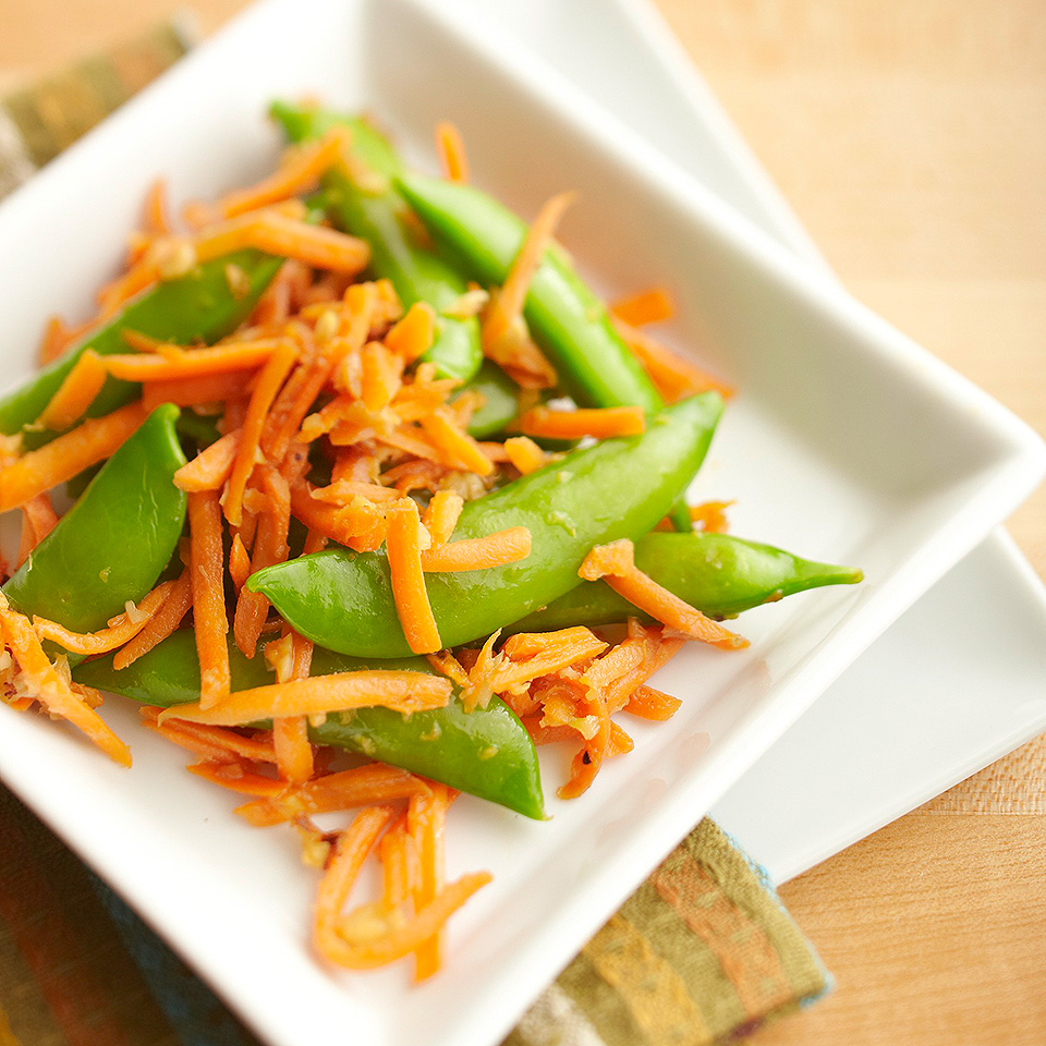 Pea Pod and Carrot Stir-Fry Diabetic Living Magazine