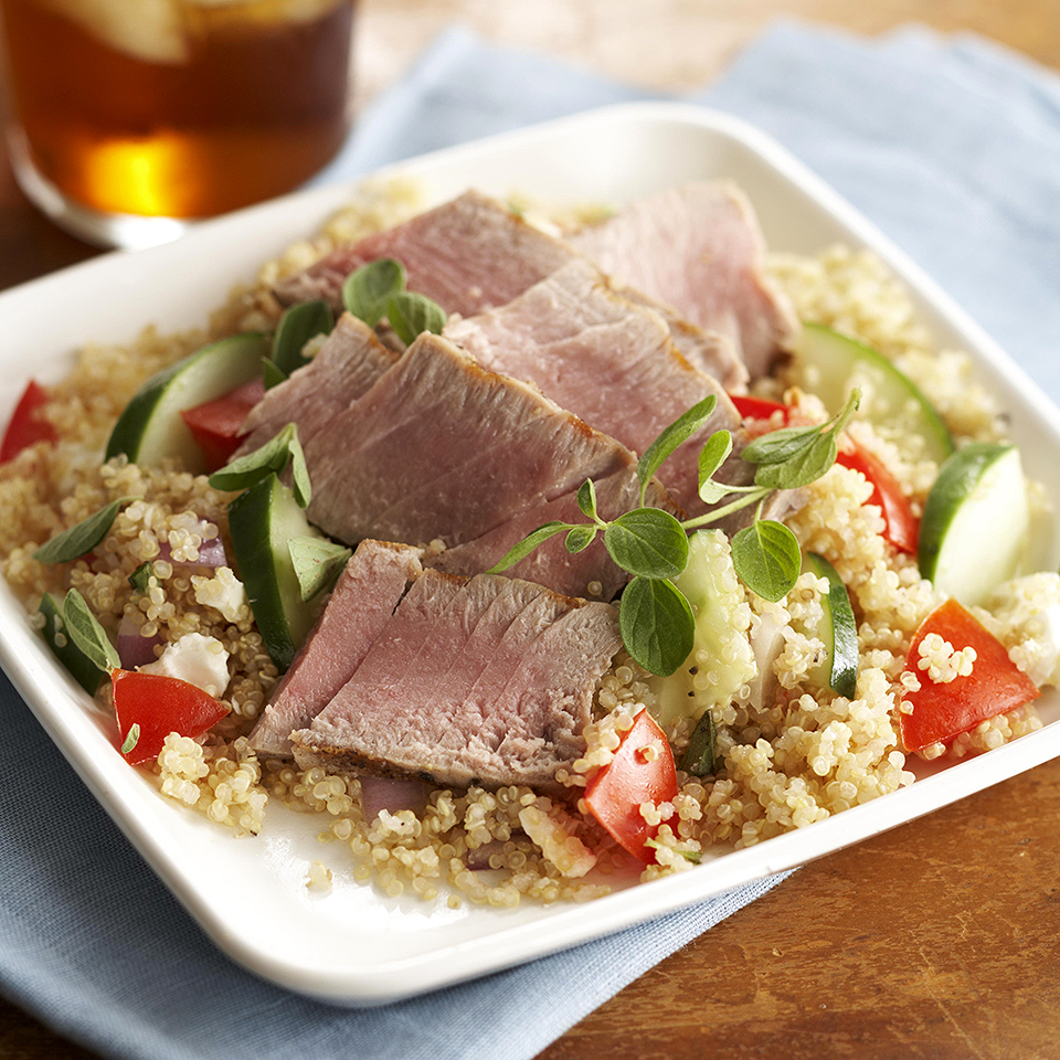 Quinoa Salad with Seared Tuna Trusted Brands