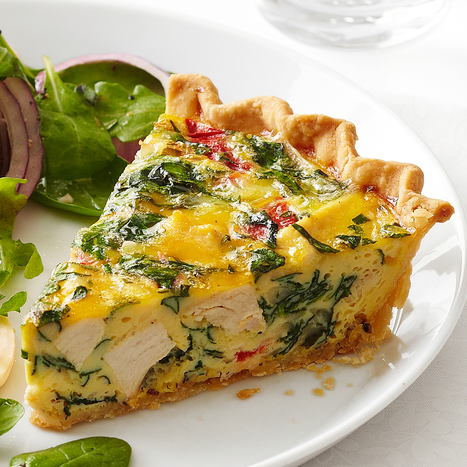 Chicken-Spinach Quiche