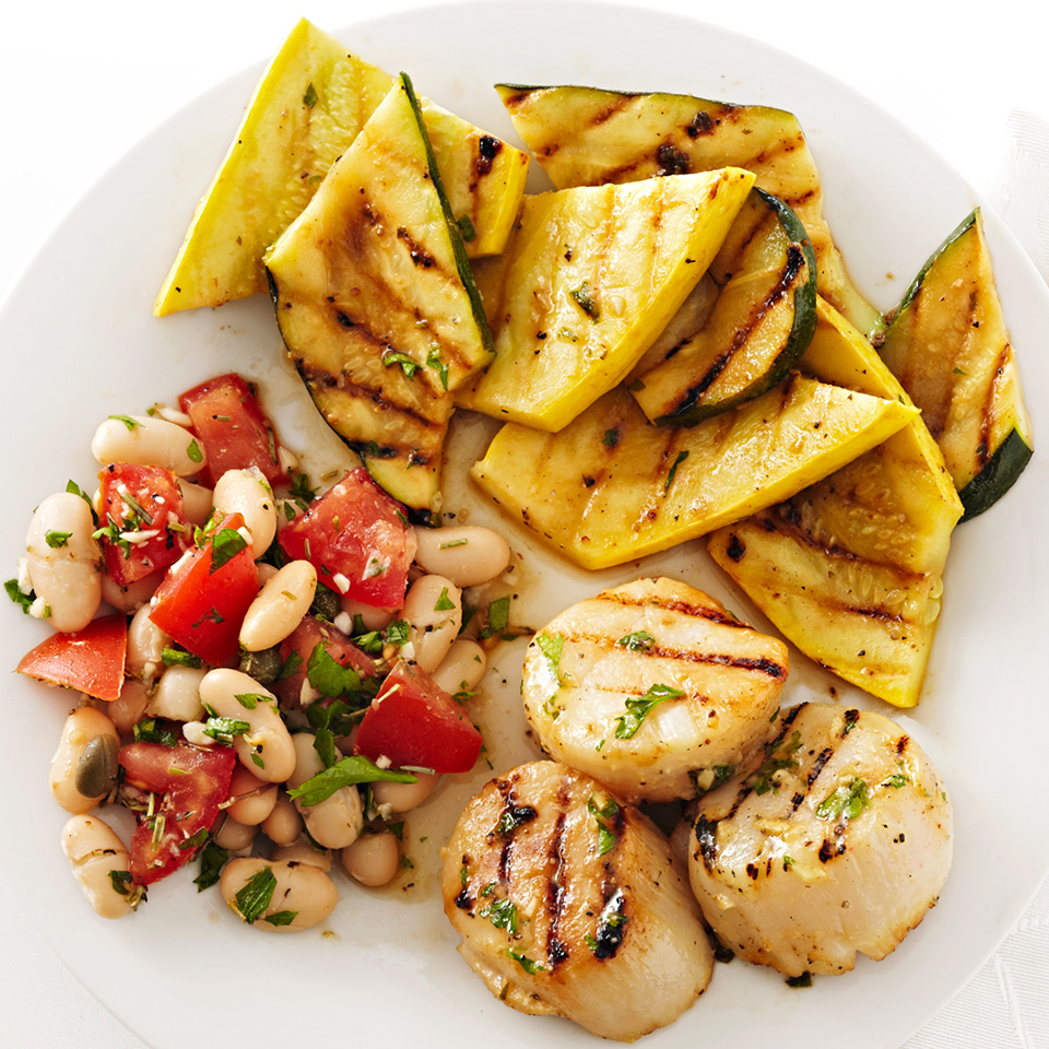 Grilled Dijon Scallops and Squash Diabetic Living Magazine