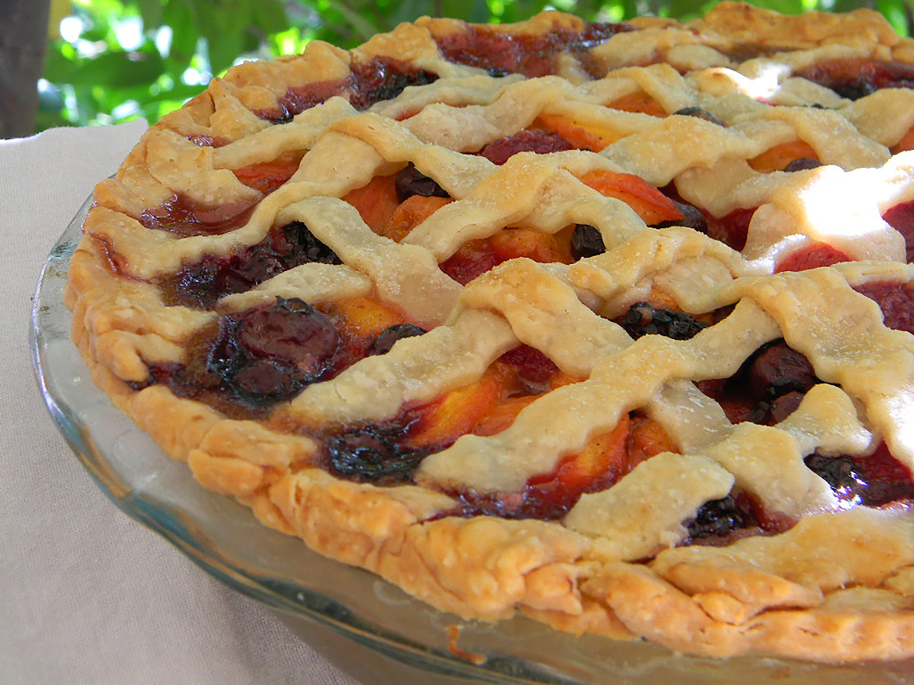Summer is Here Triple Berry Peach Pie krista v.