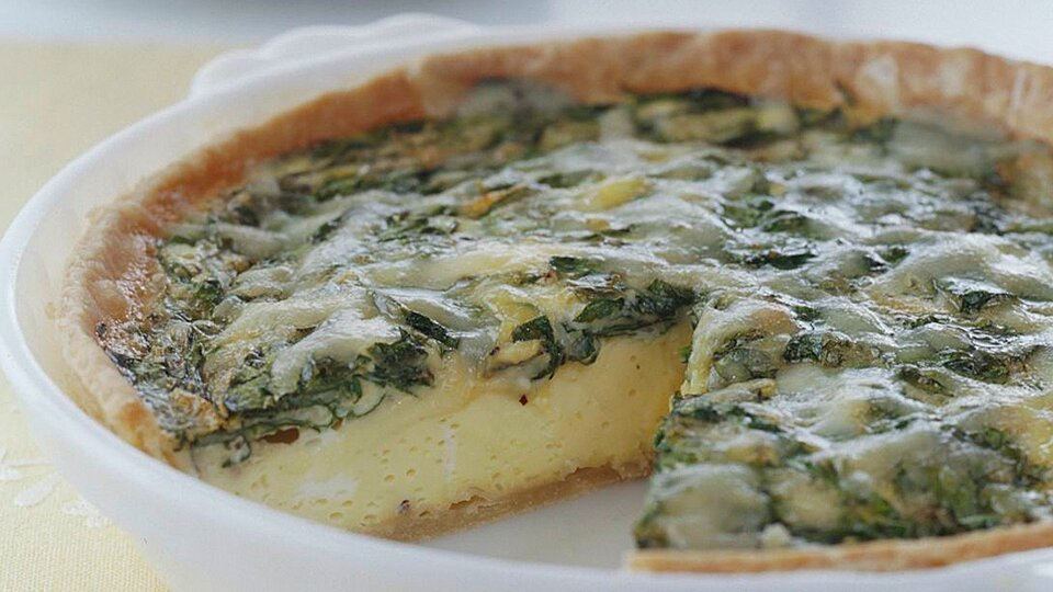 Cheesy Spinach Quiche Recipe Eatingwell