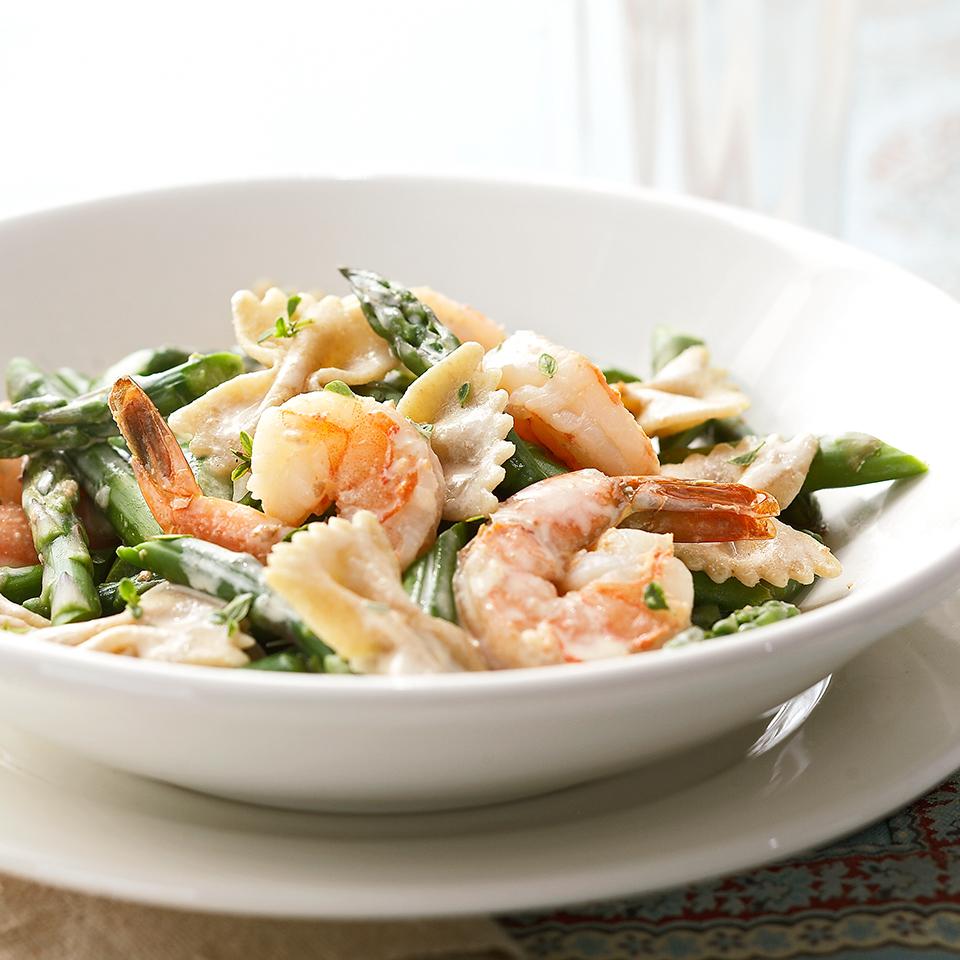 Pasta with Asparagus and Shrimp Diabetic Living Magazine