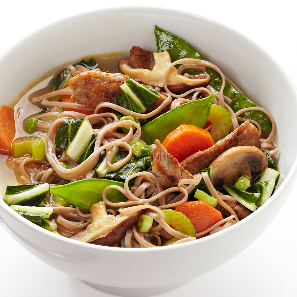 Five-Spiced Pork and Soba Noodle Bowls Diabetic Living Magazine