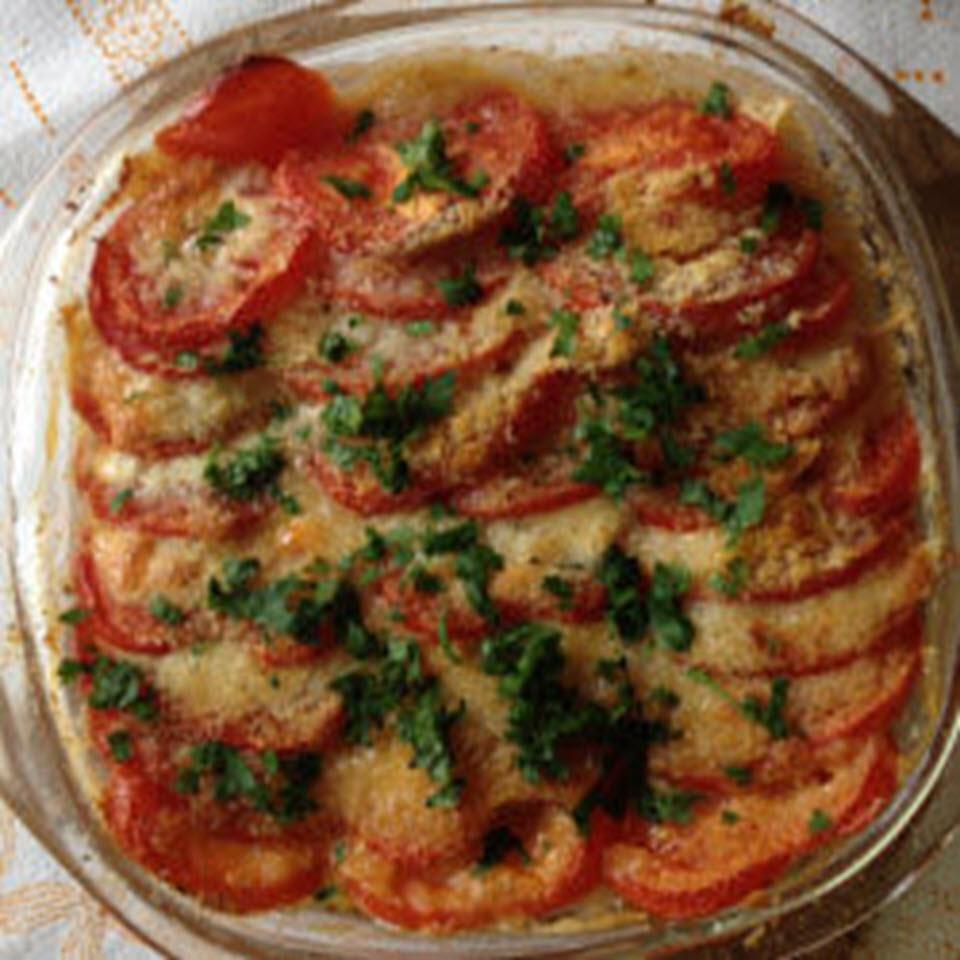 Tomato-Mozzarella Gratin