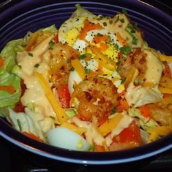 Warm Shrimp Salad hungryallweighs