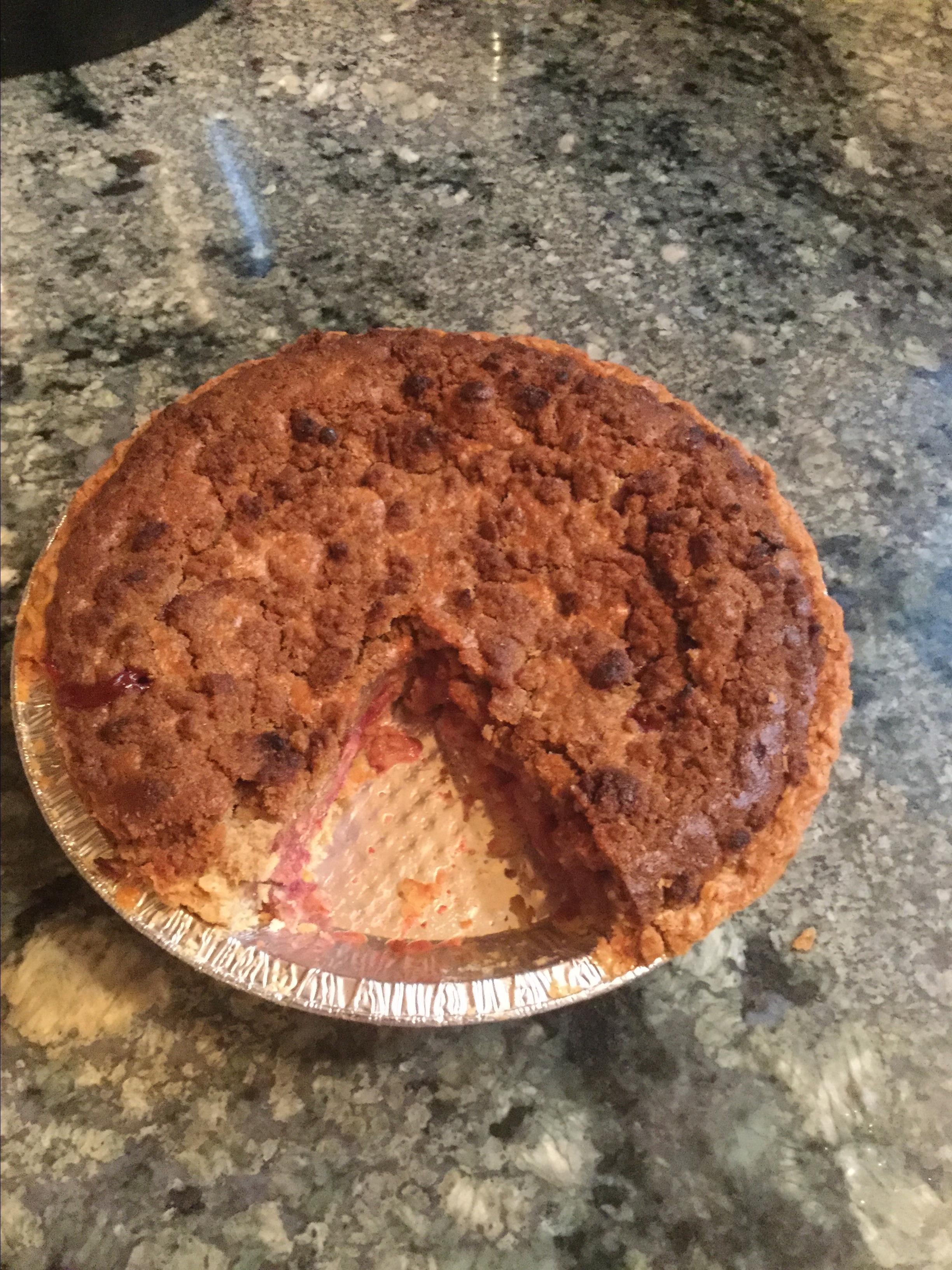 Strawberry Brown Sugar Sour Cream Pie