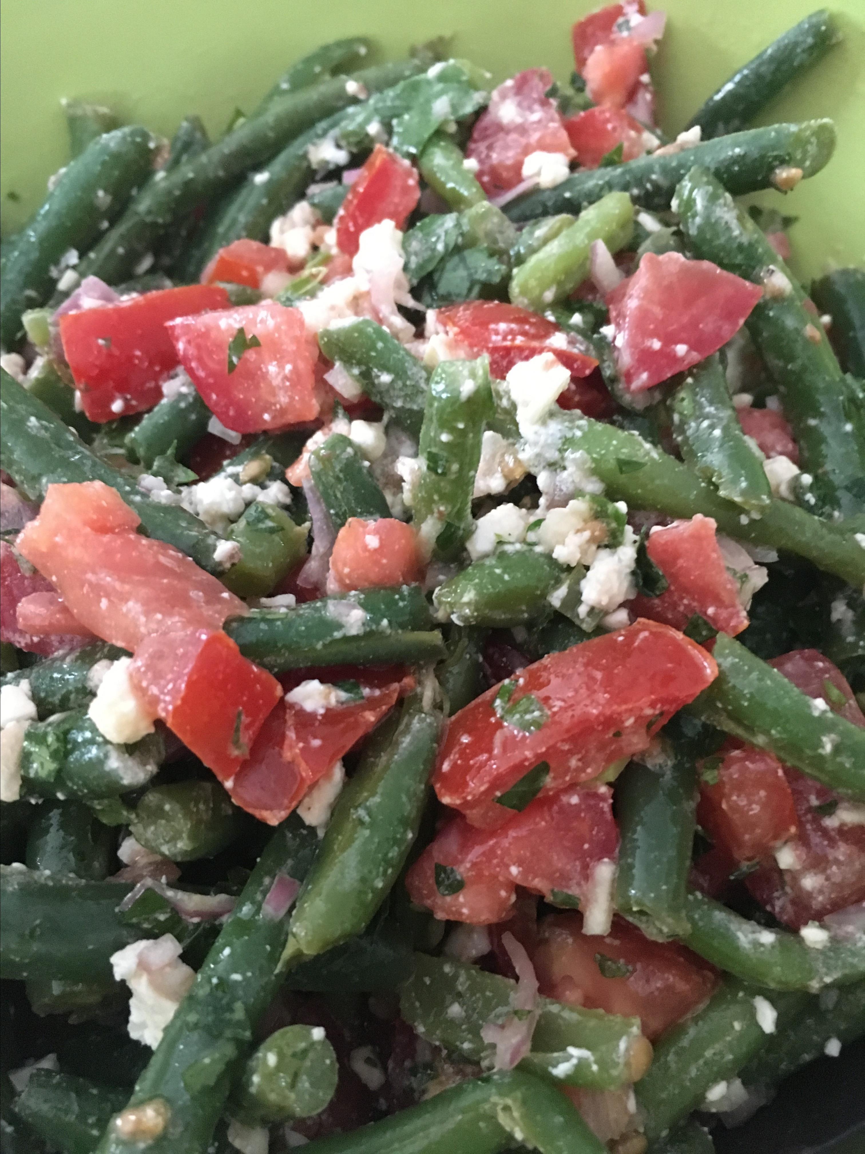 Greek Green Bean Salad with Feta and Tomatoes barbara