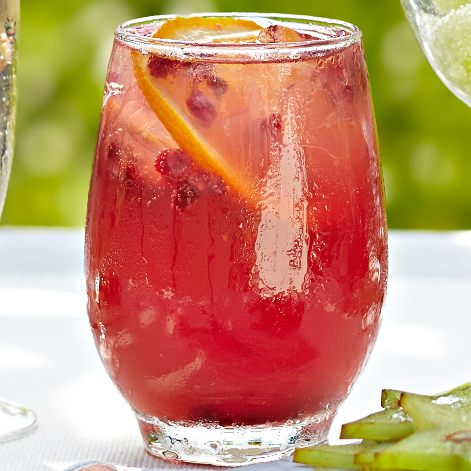 This refreshing cocktail is made with pomegranate vodka and citrus juices. It's delightfully fruity and fizzy and has under 15 grams of carbohydrates per serving. Source: Diabetic Living Magazine