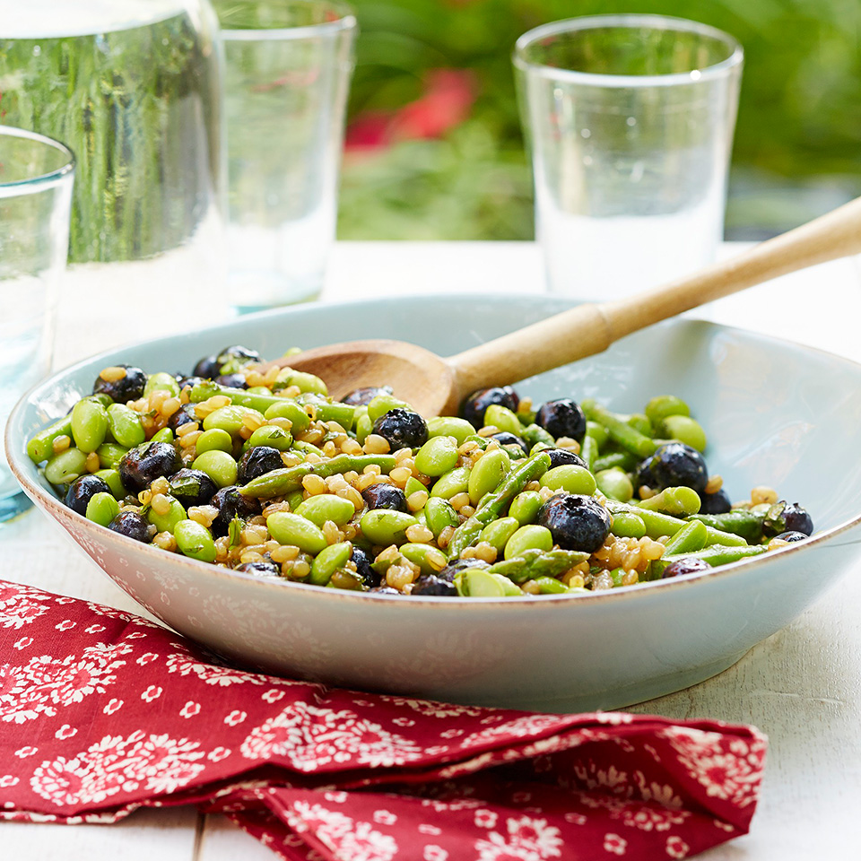 Wheat Berry and Fava Bean Salad Diabetic Living Magazine