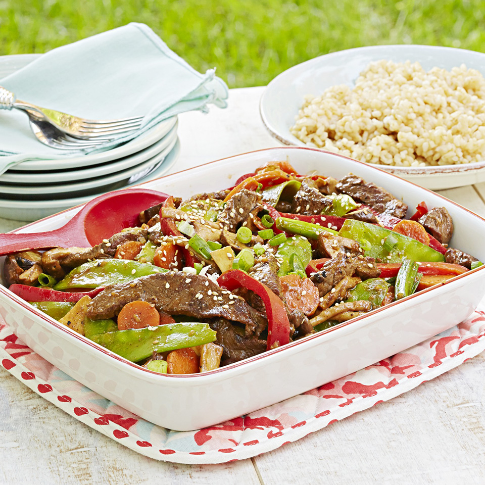 Beef and Spring Vegetable Stir-Fry Diabetic Living Magazine