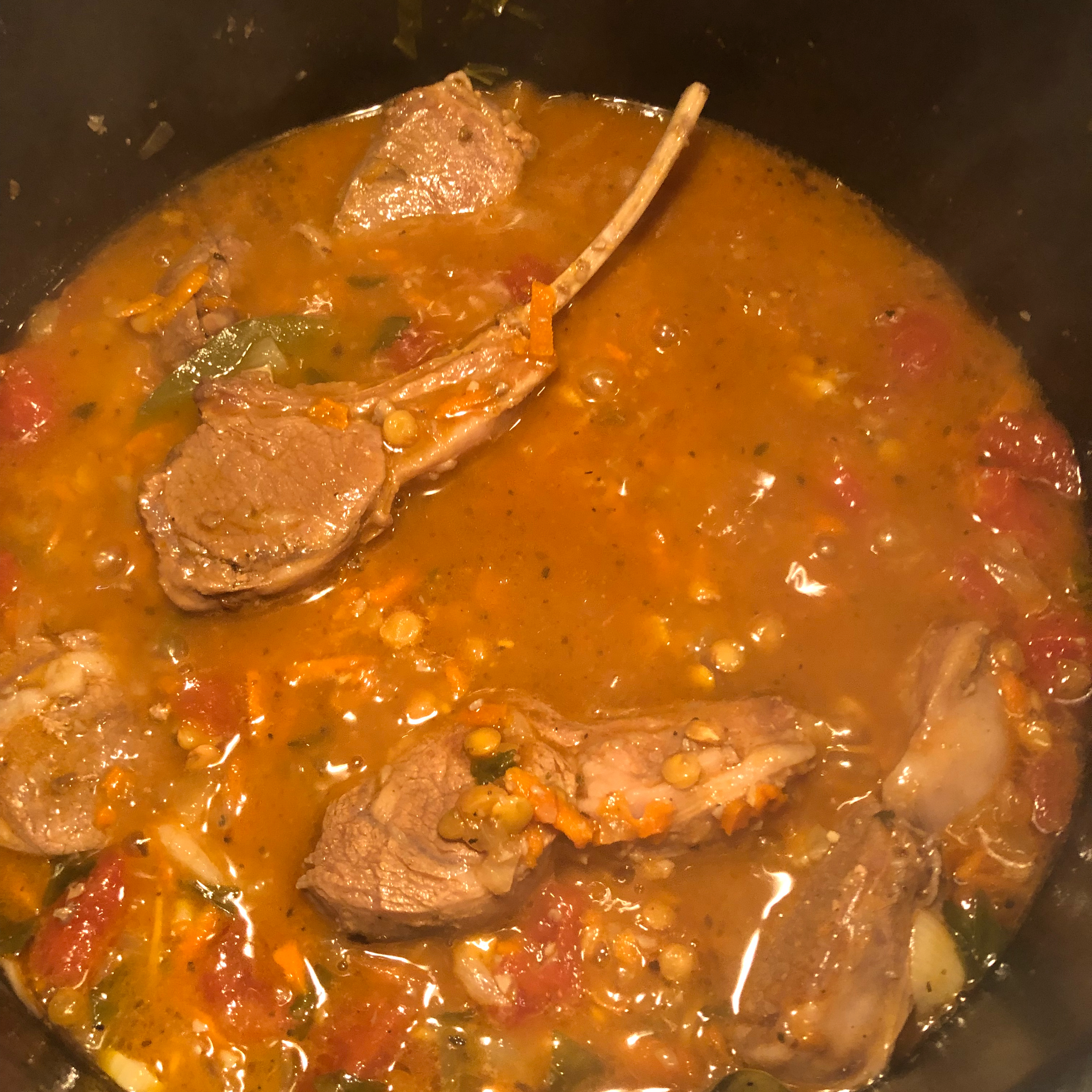 Mediterranean Lamb and Lentil Stew