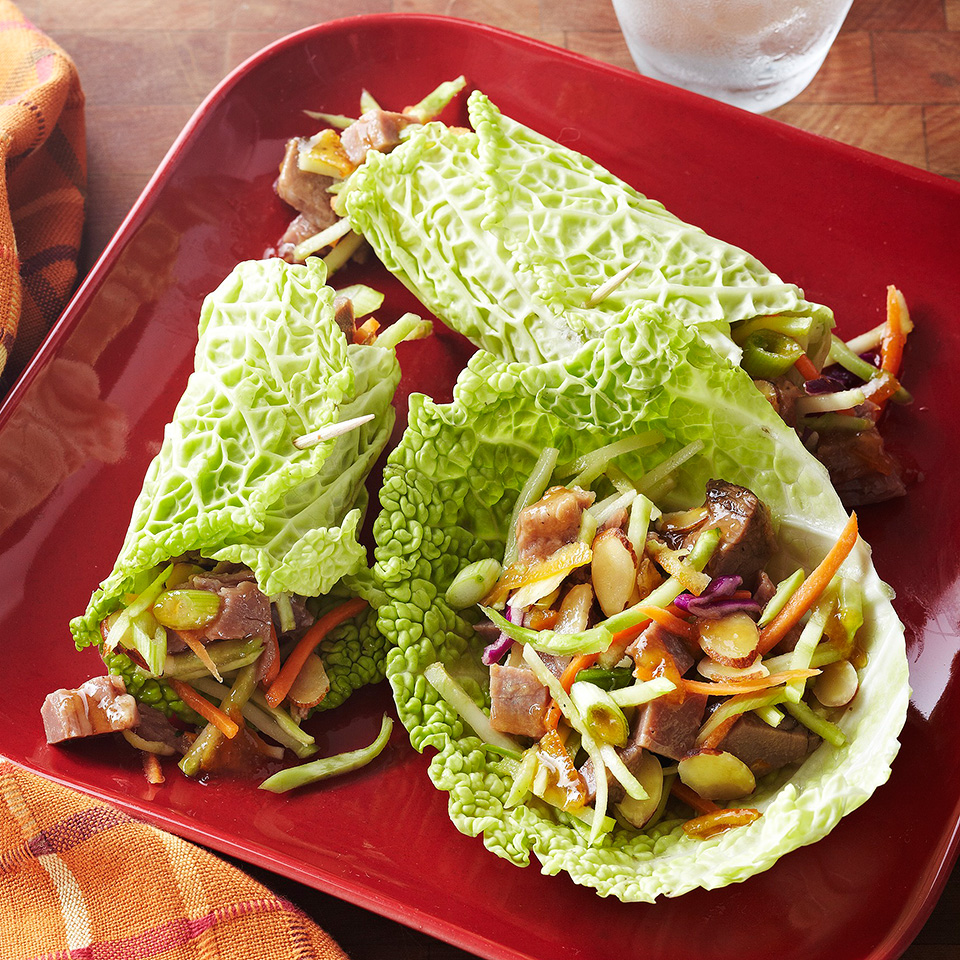 Beef and Vegetable Wraps Diabetic Living Magazine