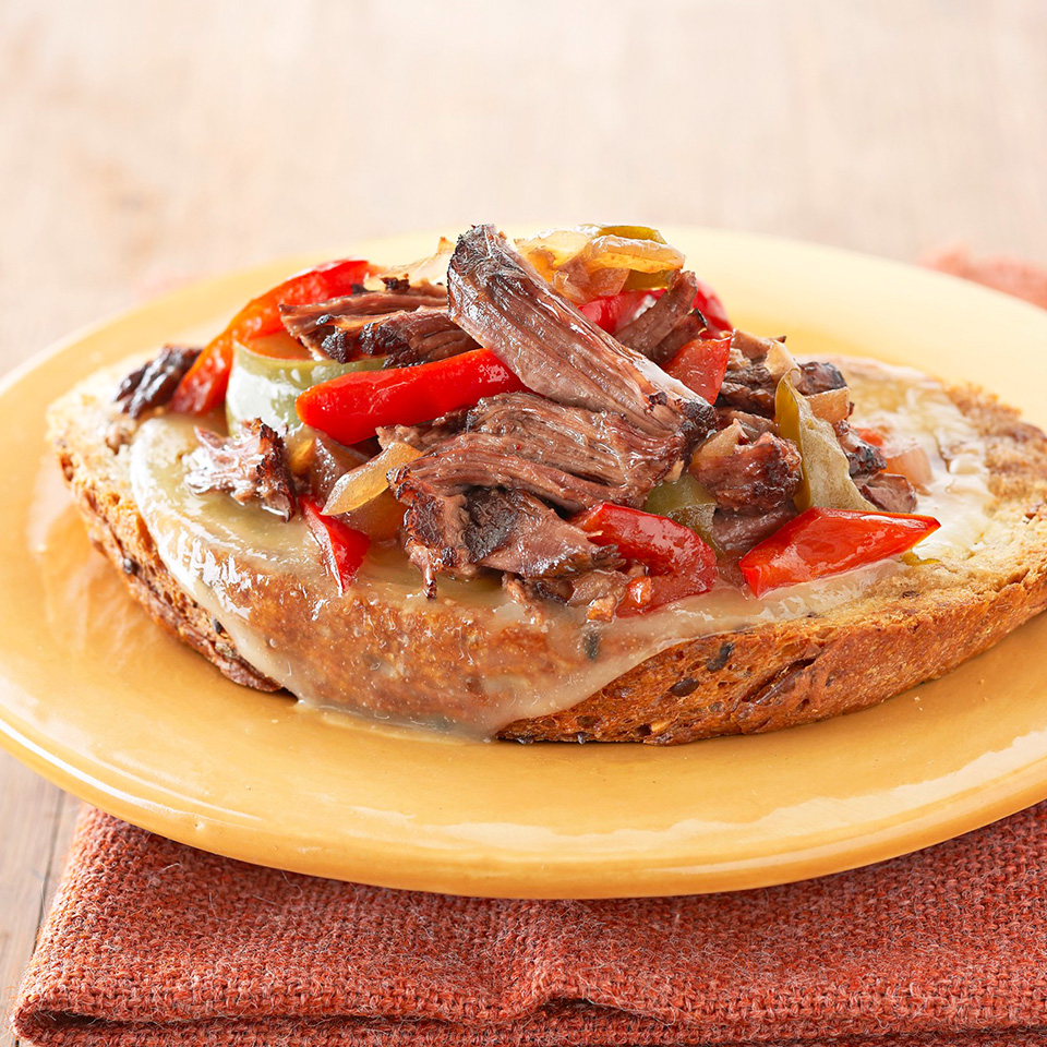 Open-Face Shredded Beef Sandwiches Diabetic Living Magazine