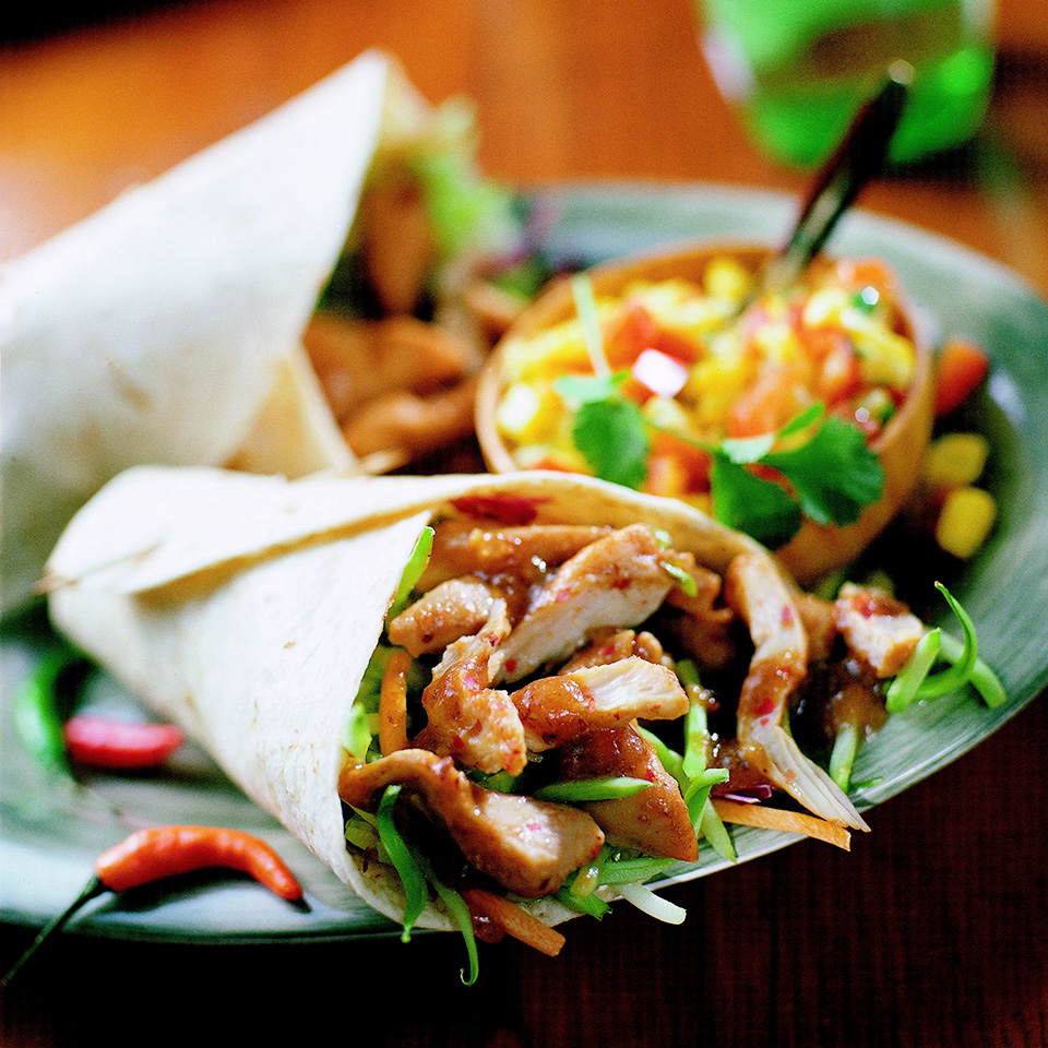 Plum-Sauced Chicken in Tortillas Diabetic Living Magazine