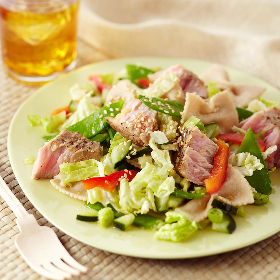Seared Tuna Pasta Salad Diabetic Living Magazine