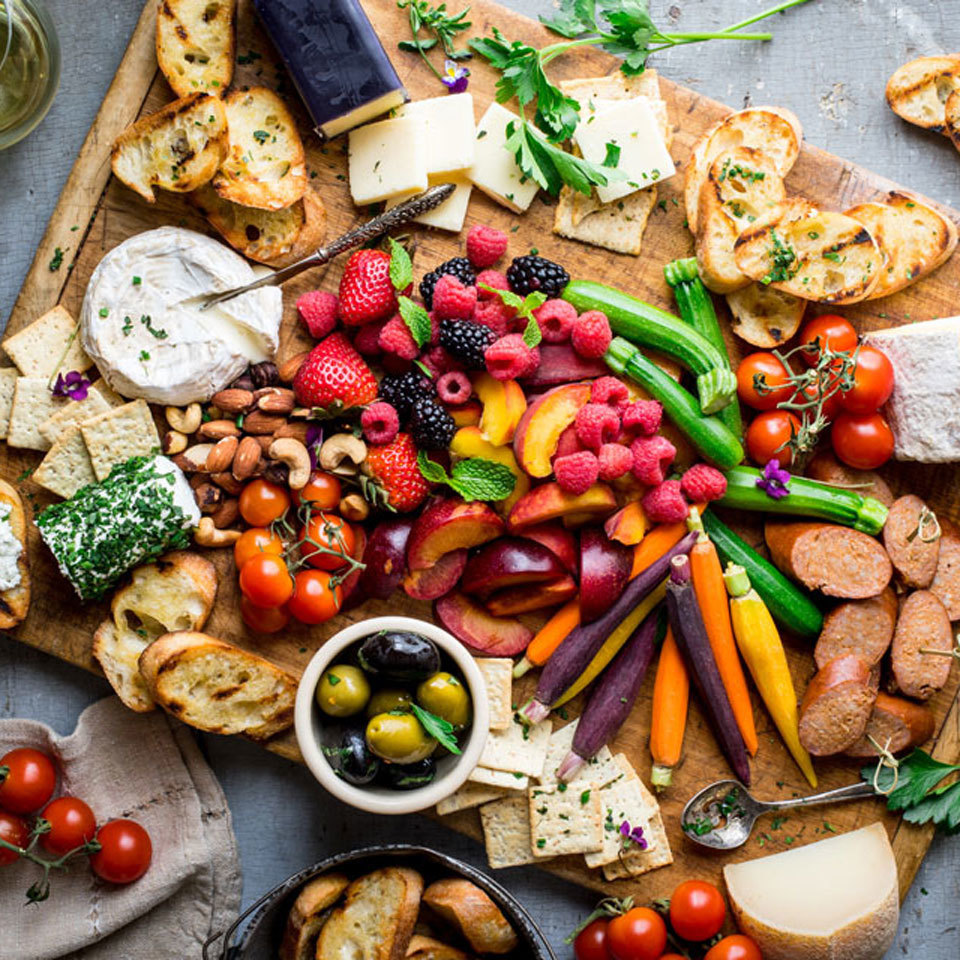 Ultimate Summer Fruit & Cheese Board Katie Webster