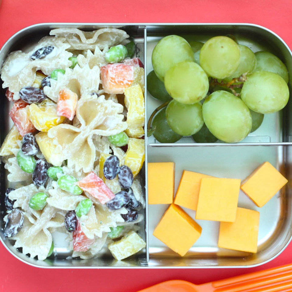 Cook extra pasta with dinner and set it aside to make an easy pasta salad you can pack for lunch the following day. Add beans, leftover chicken, deli turkey or tuna for extra protein. Source: Eatingwell.com, August 2018