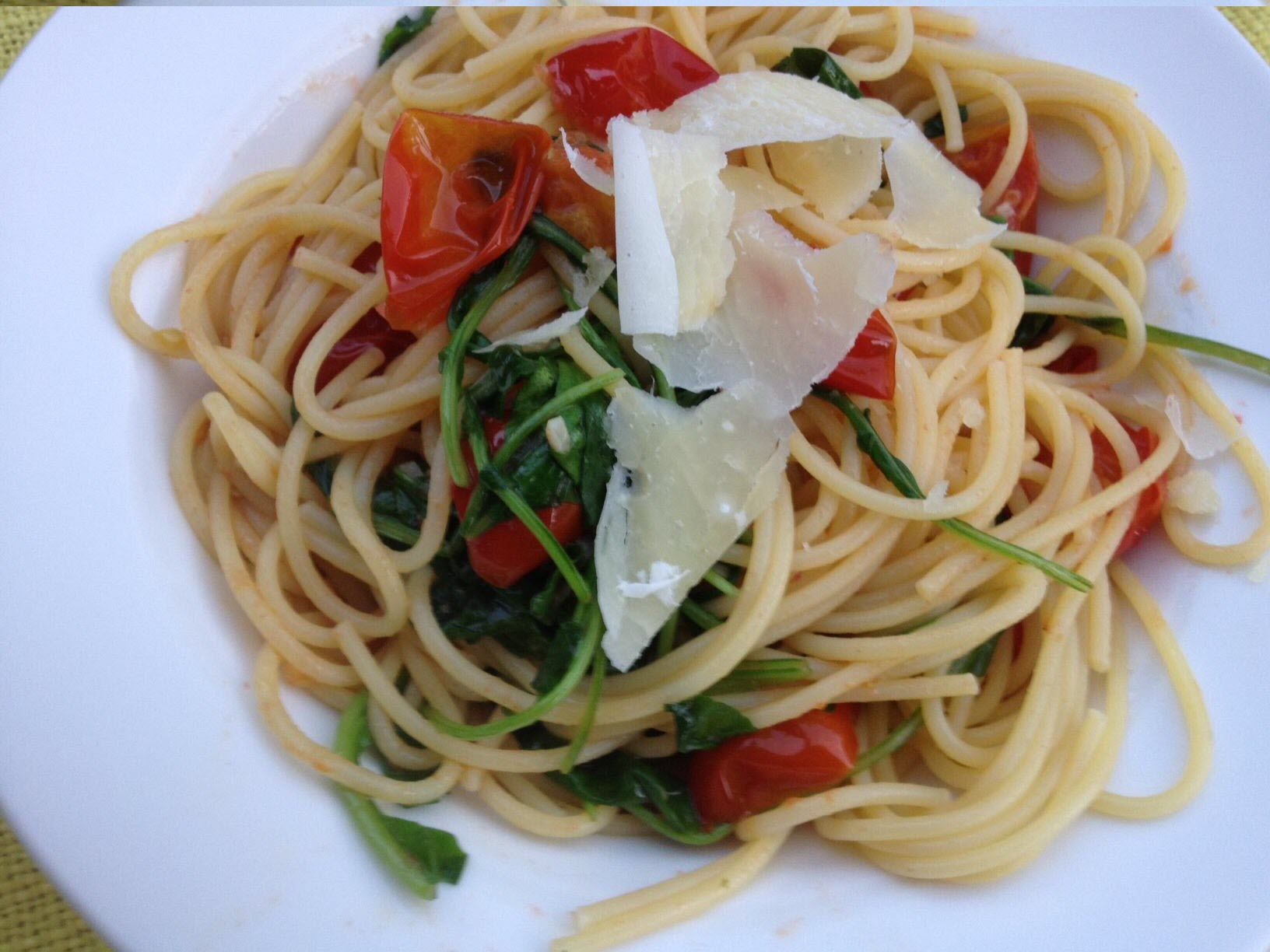 Pasta with Arugula and Tomatoes